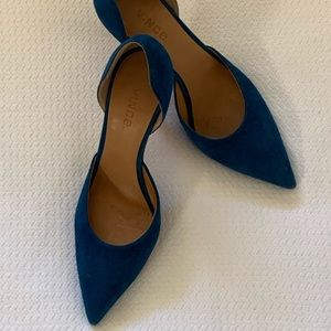 """Vince D""""orsay Blue Suede GREAT OFFER almost new"""